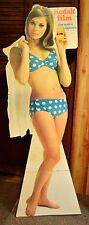 "Vintage Collectible 1960's Kodak Film Cardboard Display Bikini Girl 64"" tall"