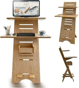 Modern Height Adjustable Sit to Stand Up Desk. Large Wood Desk Spaces That Easil