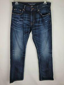 Banana Republic Vintage Straight Leg Mens 32X30 Blue Denim Dark Wash Jeans