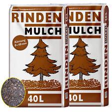Rindenmulch 2 Sack á 40 Liter = 80 L Garten-Mulch 0-40mm NEU Qualität aus Bayern