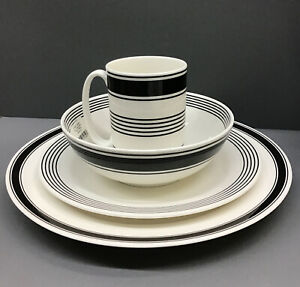 kate spade new york Concord Square™ Black by Lenox 4-Piece Place Setting