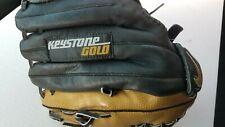 "LNWOT Nike 1253 Keystone Gold 12.5"" Leather Baseball Softball Glove Left Hand"