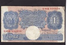 Great Britain 1 pound 1940-48 P-367a Vg
