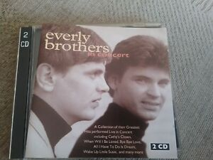 %  The Everly Brothers In Concert Import Live Recording cd very good condition