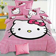 Hello Kitty Double Bedsheet King Size 254Tc Pink Color