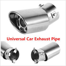 1x Universal Car Exhaust Pipe Tail Muffler Tip Rear Round Stainless Steel Chrome