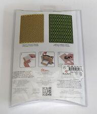 Sizzix Embossing Folders Chevron & Lattice Set Texture Fades Big Shot Scrapbook