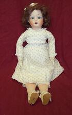 "Antique 17"" Fulper Doll Bisque Head Composition Hands Cloth Body Doll 1918-1921"