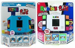 Tetris Tilt & Rubik���s Tilt Motion Activated Electronic Hand Held (2 Game Set)