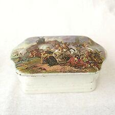 More details for antique prattware dressing table pot lidded box war by wouverman trefoil