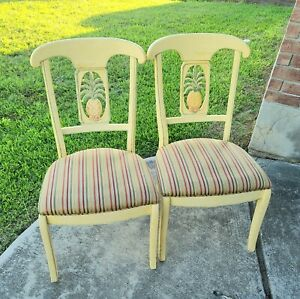 Ethan Allen Legacy Pineapple Set of 2 Dining Room Chairs 13 6302 633