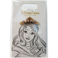 Disney World Parks Princess Aurora Tiara Pin Trading Badge Sleeping Beauty Crown