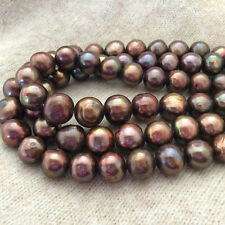 "6-7mm Real Natural Chocolate Freshwater Pearl Rondelle Loose Beads 15""AAA"