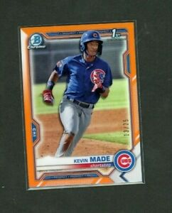 2021 Bowman Chrome BCP-153 Kevin Made - Chicago Cubs 1st ORANGE REFRACTOR 13/25