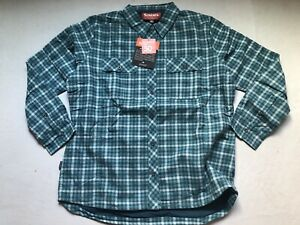 NEW Simms Women's Insulated Fishing Shirt Guide M Medium UPF 50 Mermaid Plaid
