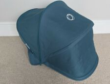 Bugaboo Donkey Petrol Blue Teal Extendable Hood, Great Condition. Sun Canopy