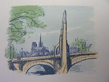 42/ AQUARELLE PARIS / Pont de la Tournelle