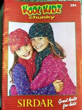 KOOL KIDZ CHUNKY Sirdar Knitting Pattern Book #294 24 pages knits for kids 1-12y