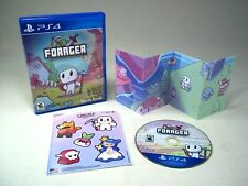Forager PS4 (Sony PlayStation 4, 2017) Complete w/ Poster & Stickers