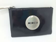 Mimco Authentic Medium Pouch Black Leather Rose Gold Lovely