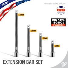 """4pc 1/4"""" LONG Socket Extension Bar Set Shaft 2"""" 3"""" 4"""" 6"""" Socket Ratchet Improved"""
