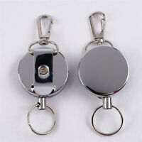 NE_ Telescopic Wire Rope Anti Lost Key Ring Keychain Retractable Gear Finder Gad