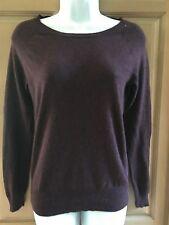 Massimo ladies purple marron sweater top sS/P.