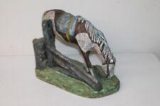 Solid Plaster Western Grazing Horse Pasteur 1976 Statue figure Art Standing