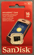 New Sandisk Micro SD 16GB SDHC Memory Card Mobile Phone Tablet Camera 16 Class 4