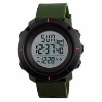 Men's Military Dual Time LED Digital Countdown Timer Sport Quartz Wrist Watch US