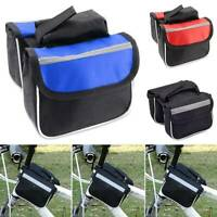 Bicycle Cycling Mountain Bike Frame Front Tube Classic Saddle Pouch Bags