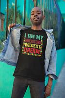 Black History Month Unisex T-Shirt HBCU Melanin I'm My Ancestors Wildest Dream