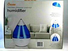Crane Filter-Free Ultrasonic Cool Mist Humidifier Droplet Blue and White