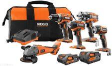 RIDGID Power Tool Combo Kit 18-Volt Lithium-Ion Brushless Cordless (5-Tool)