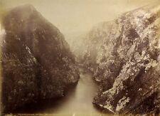 c1890, JW BEATTIE, Hells Gates, Davey River, LARGE albumen photograph, TASMANIA!