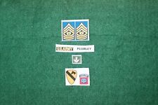 1/6 US Army 7th Cavalry We were Soldier Sgt Major Plumley Vietnam patch set Lot