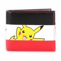 Pokemon Pikachu Rayé Tricolore Partout Imprimé Portefeuille Mâle