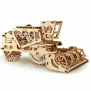 3D Self Propelled Model Mechanical Combine Harvester Wood Gear Puzzle Best gifts
