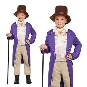 Children's Costume Willy Wonka Charlie and the Chocolate Factory Book Week Party