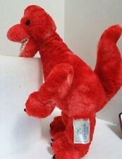 "Build a Bear 18"" Retired 16"" Red T-Rex Dinosaur Plush Jurassic World Design"
