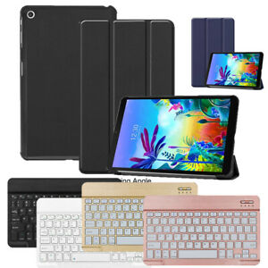 For LG G Pad 5 10.1-inch Tablet Wireless Keyboard Leather Folding Case Cover US