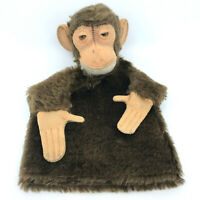Steiff Jocko Chimp Hand Puppet Mohair Plush Monkey 1960s 17cm 7in no ID Vintage