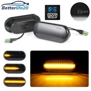 2x Dynamic LED Side Marker Light Indicator For VW Golf 3 Passat Bora Polo Ford