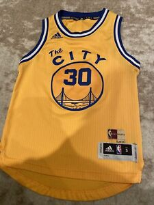 Adidas Hardwood Classics Jersey Golden State Warriors Curry Youth Small+ 2 Pro