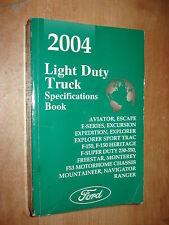 2004 FORD TRUCK SPECIFICATIONS MANUAL ORIGINAL BOOK F150 F250 SUPER DUTY & MORE