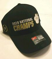 Nike NCAA Football Clemson Tigers 2018 National Champs Adjustable Hat No Swoosh