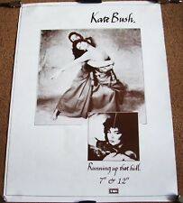 KATE BUSH U.K. RECORD COMPANY PROMO POSTER 'RUNNING UP THAT HILL' SINGLE 1985