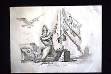 Incisione d'allegoria e satira 15 luglio 1849,Mole Adriana,Roma Don Pirlone 1851