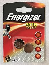 Energizer CR2016 3V Lithium Coin Cell Batteries Expiry 2023 - Pack of 2