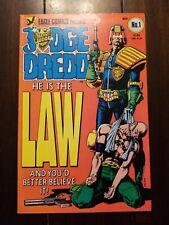 Judge Dredd #1 (1983 series) VF+/NM- Eagle comics bronze